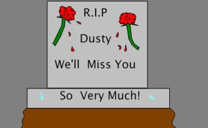 R.I.P Dusty by KilluaKing45