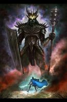 Fingolfin and Morgoth by Amisgaudi