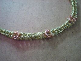 Box Chain Maille Necklace by Kodo23