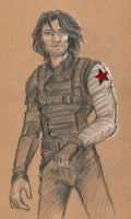 MCU characters in red - The Winter Soldier by oboe-wan