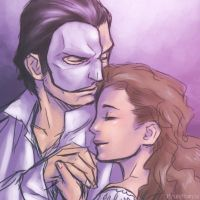 Phantom and Christine by RyukiGaryu