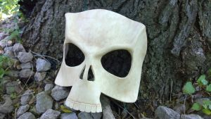 Skull Leather Mask by A-S-Thompson