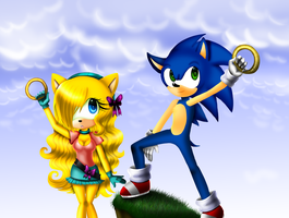 Jana And Sonic by vlower