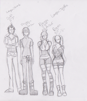soul eater ocs HEIGHT chart XD by ChiixKazu