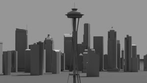 Seattle In Gray by ExtraNoise