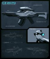 ConceptWorld Contest #35: CZ 2070 Assault Rifle by SkipeRcze