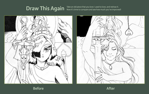 Draw This Again: Goddess Revisited by daChaosKitty