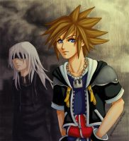 -KH2- Back in Black by Kingdom-Hearts-Yaoi
