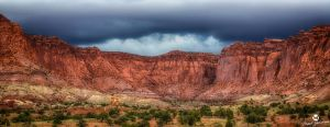 The Storm Above the Red Cliffs HDR by mjohanson