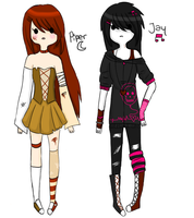 adventure time OCs - Piper and Jay by T-e-a-K-i-t-t-y