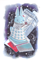 Commission: Bunny Dalek by DivaLea
