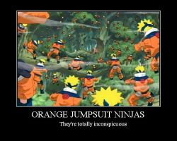 Orange Jumpsuit Ninjas by GreyLycan