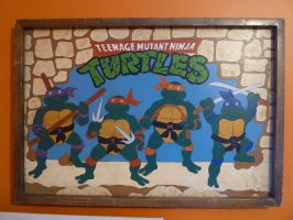 TMNT painting / carving by OwenneiL