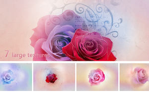 Textures - Bright roses by So-ghislaine