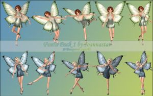 Faeries Pack 1 by joannastar-stock