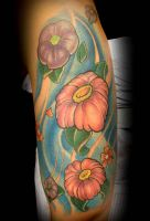 flowers free hand by exilink