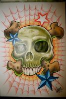 Skull Tattoo Design by itchysack