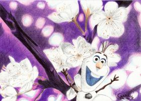 Olaf in Summer (Ballpoint pens) by Cindy-R