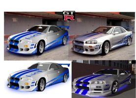Skyline GT-R 34 by deadman2989
