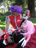 Utena Anthy Nap Time by Sundari-chan