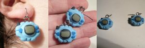 Digivice Earrings by ChibiSilverWings