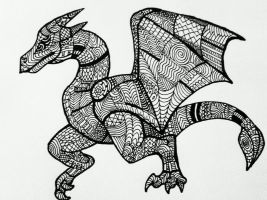 Patchwork Dragon by RebelInABox