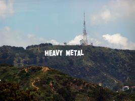 Hollywood Hills Goes Metal by MrAngryDog