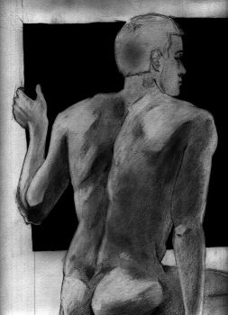 Sketch of a male by ModernGrendel