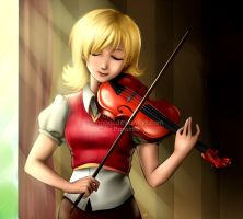 Commission: Yue and the Violin by annaoi