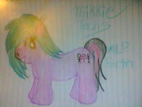 Mikkie Techs as a My Little Pony by Mikkie-Techs