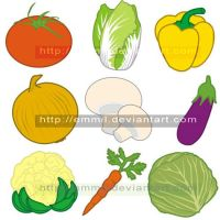 FOR SALE! Vector vegetables by art-adoption