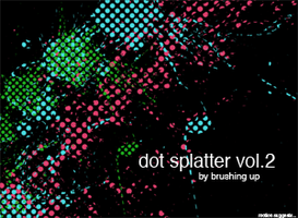 Dot Splatter vol 2 by motion-suggests