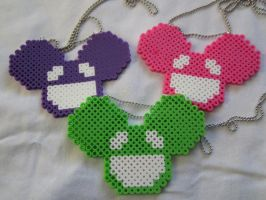 Deadmau5 Mouse Perler Necklaces 2 by colbyjackchz