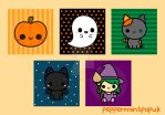 Spoopy cute Halloween illustrations by peppermint-pop-uk