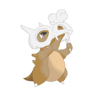 Cubone for Kame's Collab by xVincelx