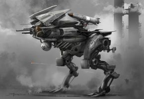 Raptor mech speed painting by TheRafa