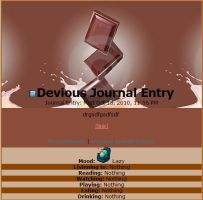 Chocolate Journal Skin by GemmaandJessica