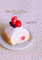 Japanese Roll Cake by monpuchikissa