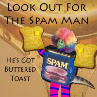 Spam and Buttered Toast by RuleDaWorldART
