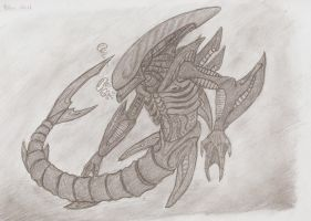Shark Xenomorph by Sil-Pencil