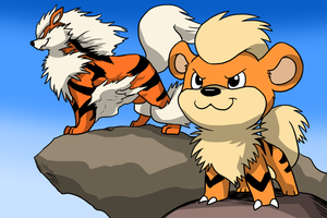 The Growlithe Family by Zerochan923600