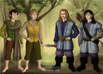 Merry and Pippin meet Fili and Kili by Chrissiannie