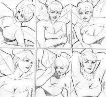 Tinkerbell ACEO sketch card set by TeamAmazing