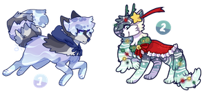 Winter / Christmas Water Dog Auction ( closed ) by twinelights
