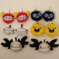 NEW MONSTER EARRINGS by loveandasandwich