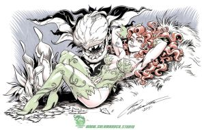 Poison Ivy and Audrey 2 by SalamanderArt