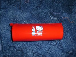 Hello kittypen and pencil case by Lelias
