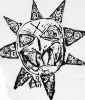 Angry Sun Ink by MrAdam