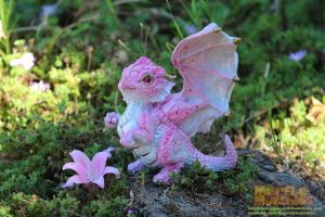 Cherry Blossom Dragon by The-SixthLeafClover