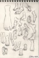 Feet sketches by Nekomiira